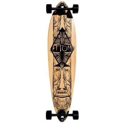 40003 Atom 39 Inch Bamboo Pin-Tail Longboard