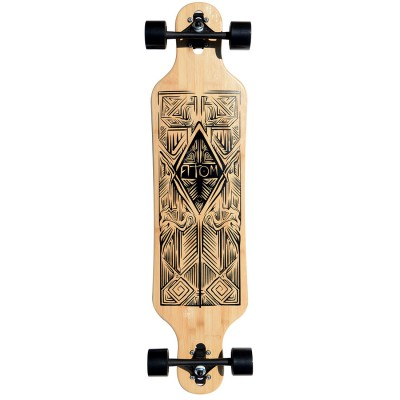 40004 Atom 40 Inch Bamboo Drop-Through Longboard